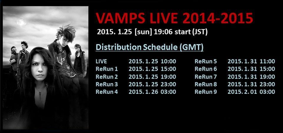 VAMPS Schedule