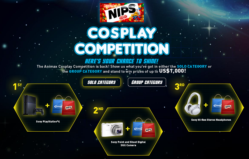 Animax 2015 Solo Category Prizes